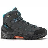 Wanderschuh Lowa Approach GTX Mid Junior Anthrazit Türkis Kinder