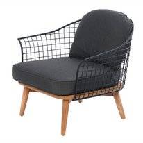 Loungestoel Miloo Home Toro Black