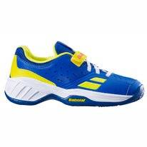 Tennisschuh Babolat Junior Pulsion All Court Fluo Aero Blau Kinder