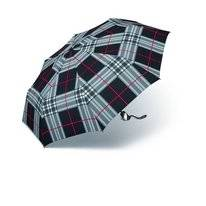 Regenschirm Happy Rain Easymatic Ultra Light Checks Black