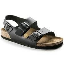 Sandals Birkenstock Milano Leather Black Narrow
