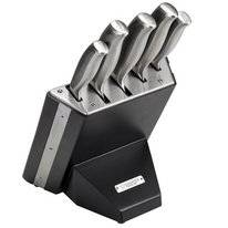Knife Block Diamant Sabatier Riyouri Black Lacquered Wood (5 pc)