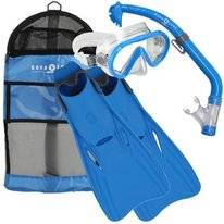 Snorkelset Aqua Lung Sport Junior Santa Cruz Set Blue (L/XL)
