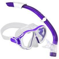 Snorkelset Aqua Lung Sport Ivy + Seabreeze White Purple