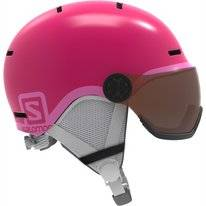 Skihelm Salomon Grom Visor Junior Glossy/Pink Kids