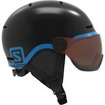 Skihelm Salomon Grom Visor Junior Schwarz