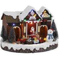 Luville Village With Santa And Train Battery Operated