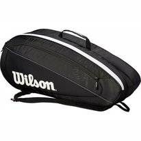 Tennistas Wilson Fed Team 6 Pack Black White