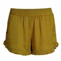 Pyjamabroek Essenza Cessie Mini Short Mustard
