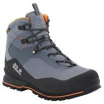 Wandelschoen Jack Wolfskin Men Wilderness Lite Texapore Mid Pebble Grey Black