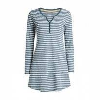 Nightdress Essenza Acacia Stripe LS Grey