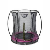 Trampoline EXIT Toys Silhouette Ground 183 Pink Safetynet