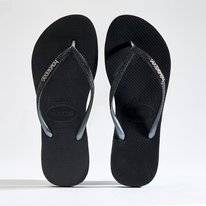 Tongs Havaianas Women Slim Sparkle Black