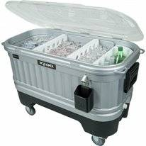 Koelbox Igloo Party Bar Liddup Silver Smoke Black