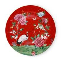Coupe Plate Pip Studio Blushing Birds Red 32 cm (Set of 2)