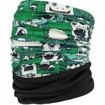 Neck Warmer Barts Unisex Multicol Polar Monsters Green