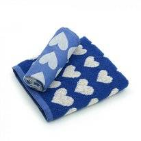 Keukendoek Bunzlau Castle Hearts Royal Blauw
