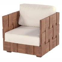 Loungestoel Hartman Forest Lounge Chair Without Cushion Natural Teak