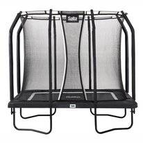 Trampoline Salta Premium Black Edition Rectangular Zwart 153 x 214 cm + Safety Net