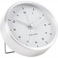 Wekker Karlsson Tinge Brushed Steel White Dial