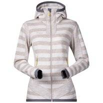 Vest Bergans Women Hollvin Wool Cream Light Beige Striped
