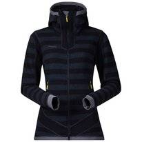 Vest Bergans Women Hollvin Wool Dark Navy NightBlue Striped