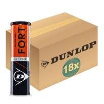 Tennisball Dunlop Fort Clay Court 4-Tin (Dose 18x4) 2019
