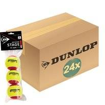 Tennisball Dunlop Stage 3 Red 3 Polybag (Dose 24x3) 2019