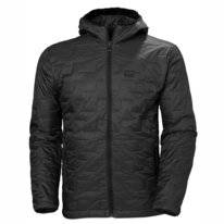 Jas Helly Hansen Men Lifaloft Hooded Insulator Jacket Black Matte