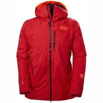 Ski Jas Helly Hansen Men Straightline Lifaloft Jacket Alert Red