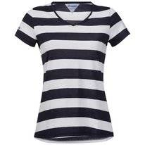 T-Shirt Bergans Women Bastoy Lady White Navy Striped