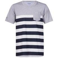 T-Shirt Bergans Men Lyngor White Navy Striped Grey Mel