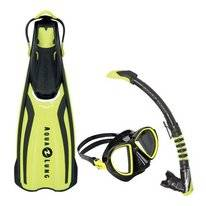 Snorkelset Aqua Lung Sport Amika Travel Set Yellow Duetto + Zephyr Flex (M)
