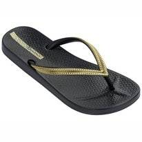 Slipper Ipanema Women Anatomic Mesh Black Gold