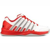 Tennisschuh K Swiss Bigshot Light 3 Carpet White Fiery Red Black Damen