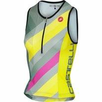 Singlet Castelli Women Core 2 Multicolor Forest Gray