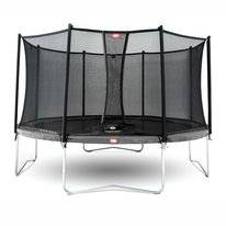 Trampoline BERG Favorit Grey 380 + Safety Net Comfort