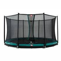 Trampoline BERG InGround Favorit Green 380 + Safety Net Comfort