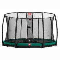 Trampoline BERG InGround Champion Green 380 + Safety Net Deluxe