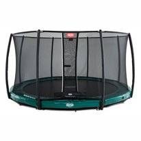 Trampoline BERG InGround Elite Green 380 + Safety Net Deluxe