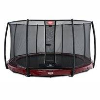 Trampoline BERG InGround Elite Red 380 + Safety Net Deluxe