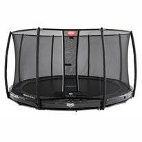 Trampoline BERG InGround Elite Grey 380 + Safety Net Deluxe