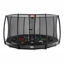 Trampoline BERG InGround Elite Grey 430 Tattoo + Safety Net Deluxe