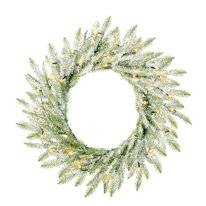 Kerstkrans Black Box Trees Brewer Wreath Green Frosted 60 cm LED