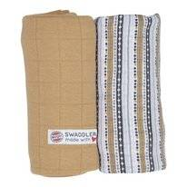 Multidoek Lodger Swaddler Print Solid Honey Stripe (2-Delig)