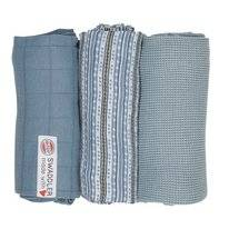 Multidoek Lodger Swaddler Empire Stripe Ocean (3-Delig)