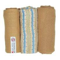 Multidoek Lodger Swaddler Empire Stripe Honey (3-Delig)