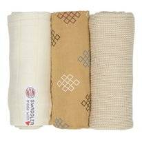 Multidoek Lodger Swaddler Empire Knot Ivory (3-Delig)