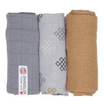 Multidoek Lodger Swaddler Empire Knot Donkey (3-Delig)
