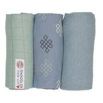 Multidoek Lodger Swaddler Empire Knot Eau Blu (3-Delig)